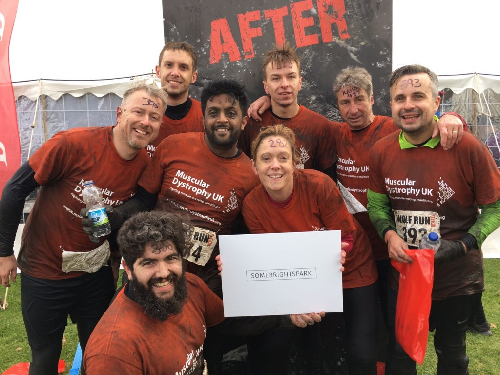 SomeBrightSpark take on the Wolf run for charity