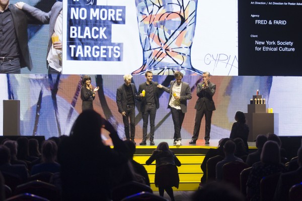 Winners on the stage at D&AD Awards 2017
