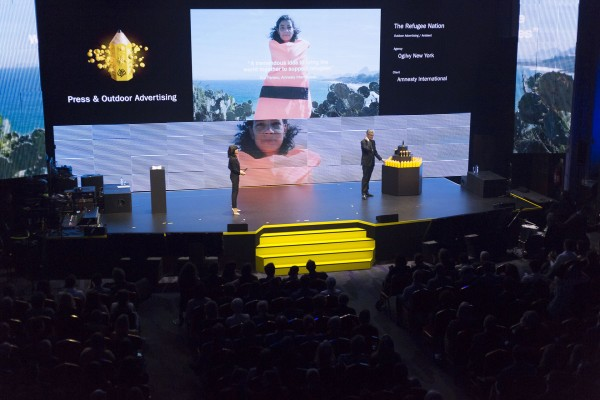 Giant LED screens were used to create an immersive experience