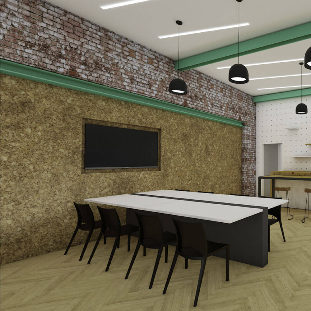 Meeting space at new coworking space, SomeBrightSpark