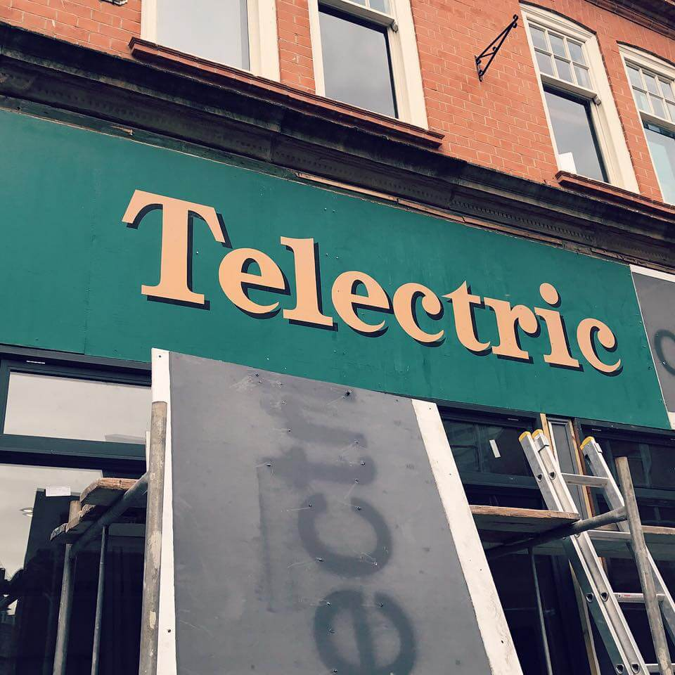Old Telectric sign uncovered