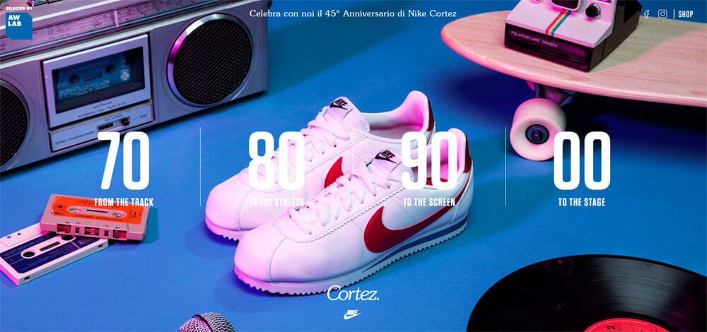 Special activation for AWLAB to celebrate the 45th Anniversary of the iconic Nike Cortez