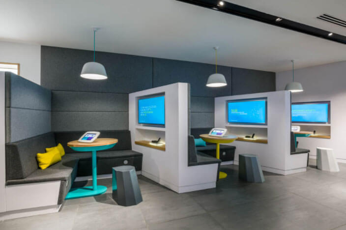 EE new concept store include personal pods where people can search deals and access the internet