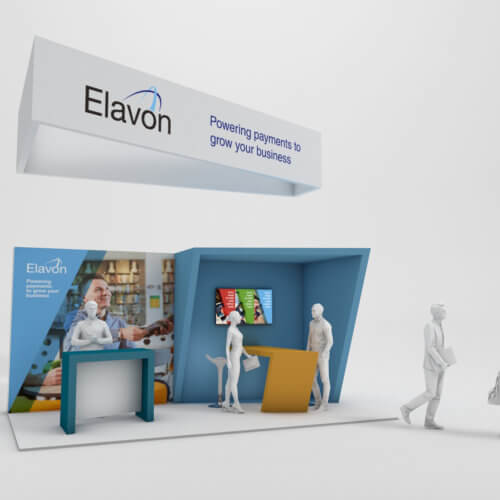 We designed a compact stand design for Elavon exhibiting at the Food and Beverage show 2018