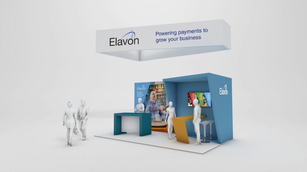 Compact stand design for Elavon at the Food & Beverage show 2018