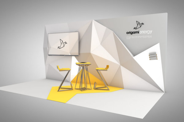 Cool Exhibition Stand Design for Origami