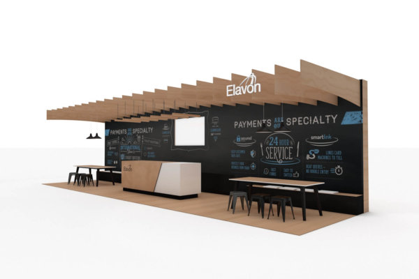 Exhibition stand design for Elavon at the Restaurant show