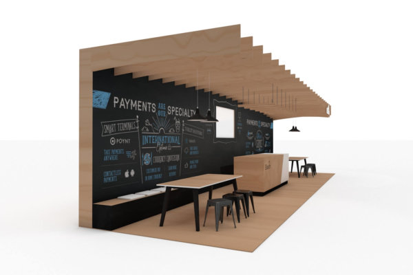 Exhibition stand design for Elavon at the Restaurant show 1