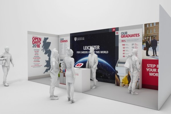 Exhibition stand design for University of Leicester