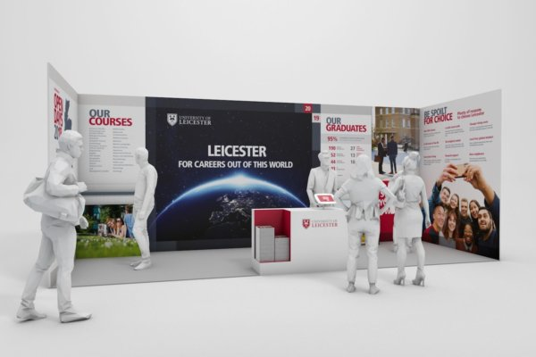University of Leicester exhibition stand design