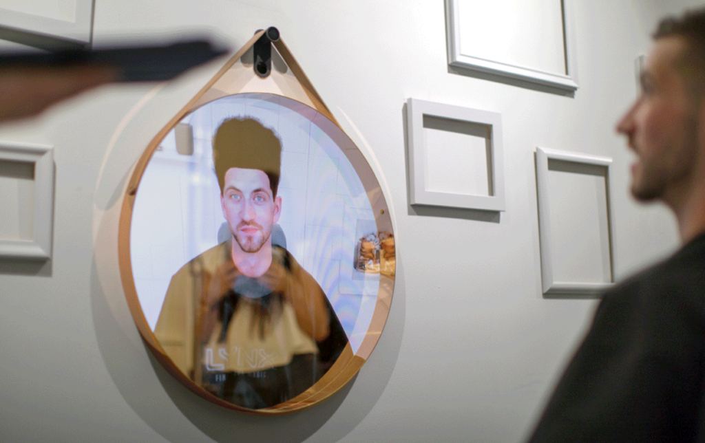 Lynx Magic Mirror created by Unit 9 uses face tracking technology