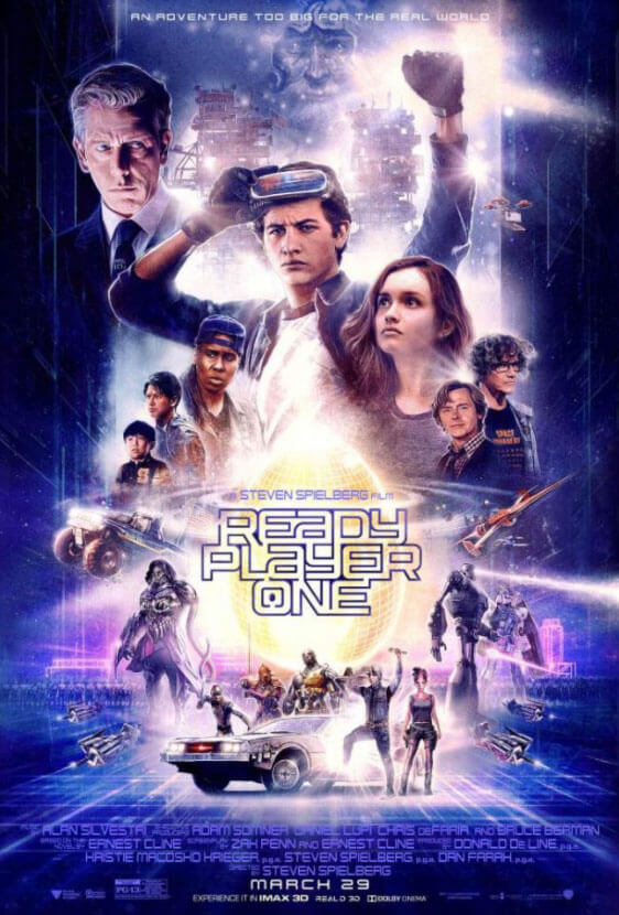 Promotional poster for Spielberg's latest film Ready Player One