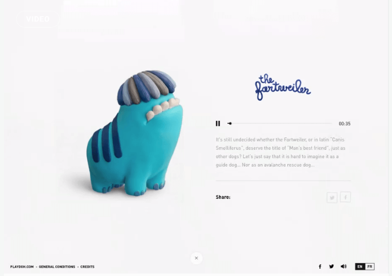 Providing creative inspiration is this new website by Playdoh which encourages children to create their own species